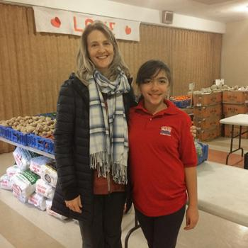 Sarah with Carol Romano from the Food Center in Morrisville, PA