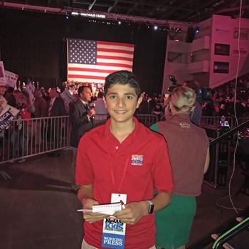 Gabe at a Trump rally in Bangor, Maine