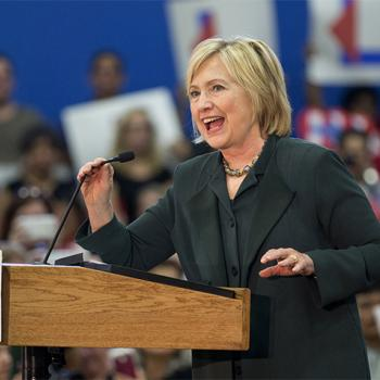 Democratic presidential candidate Hillary Clinton talks to an enthusiastic crowd at a December campaign event in Orlando, Florida.