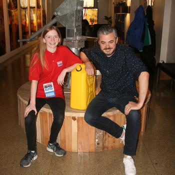 Skylar with Scott Harrison, founder and CEO of charity: water