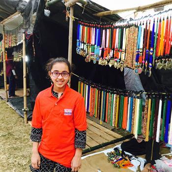 Sunaya at the Poush Mela fair