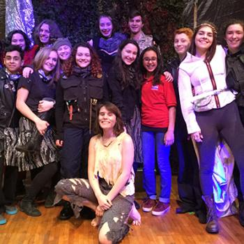 Sunaya with the Queen Lear Cast