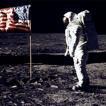 Astronaut Buzz Aldrin, a member of the Apollo 11 mission, walks on the Moon on July 20, 1969. Fellow astronaut Neil Armstrong was the first to set foot on the planet.