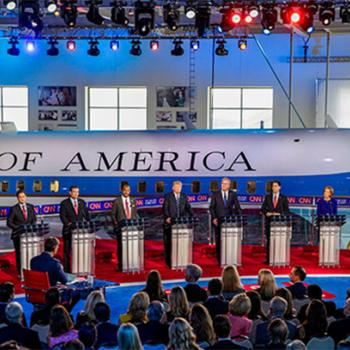 Top Republican candidates debate the issues on September 16 at the Ronald Reagan Presidential Library in Simi Valley, California.