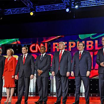 The top nine Republican candidates for president discuss national security and other issues at their final debate of 2015 at the Venetian in Las Vegas.