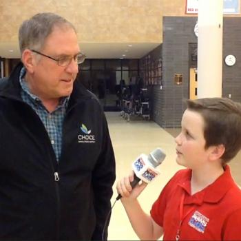 Ryan interviews voter Raymond Schenk of Chanhassen, MN