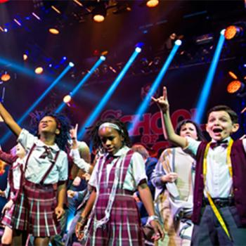 Cast members at the opening night performance of School of Rock. The new musical, which opened on December 6 at the Winter Garden Theatre in New York City, is based on the 2003 film starring Jack Black.