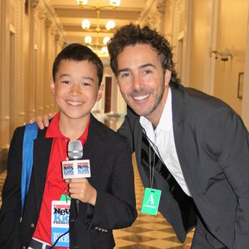 "Max with Shawn Levy, producer and director of the Netflix original series ""Stranger Things"""
