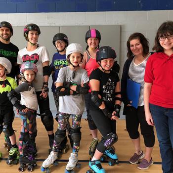 Esther with the Saint Louis Junior Derby team