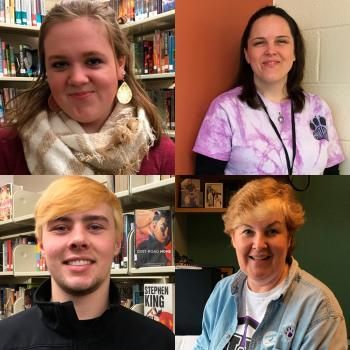 Clockwise from top left: Kailene Isbell, Sherry Brown, John Evans, and Martha Cobb