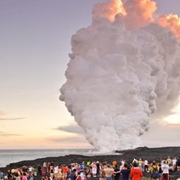 The Kilauea lava flow in Hawaii threatens homes, schools, and large areas of land.