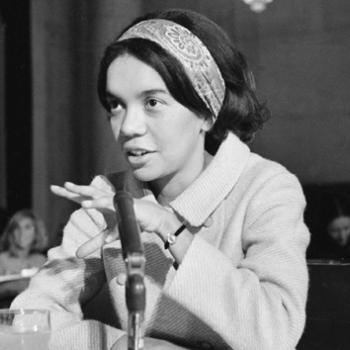 Marian Wright Edelman, attorney for the NAACP Legal Defense Fund, testifies before the Senate in 1967.