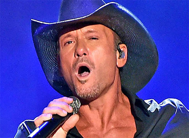 Country music star Tim McGraw performing in 2015 in Austin, Texas. McGraw has won three Grammy Awards for his music, among many other honors.