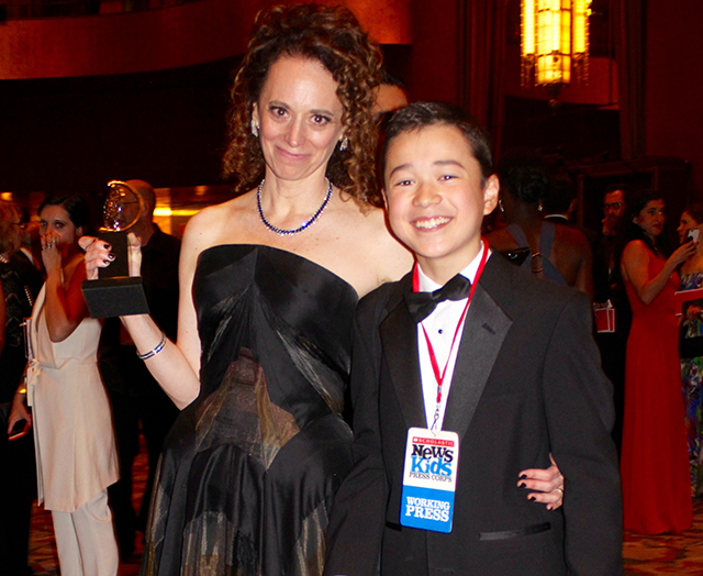 Max with Rebecca Taichman, the director of Indecent, who won a Tony Award for Best Direction of a Play.
