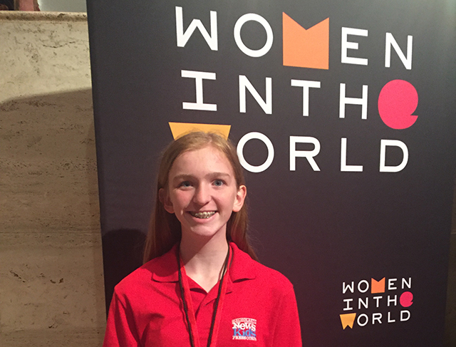 Skylar at the Women in the World Summit